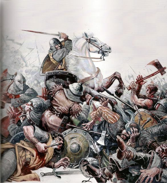 El Cid at the Battle of Graus. Dates for this battle vary between 1063 and 1070, though most probable is Spring 1064.