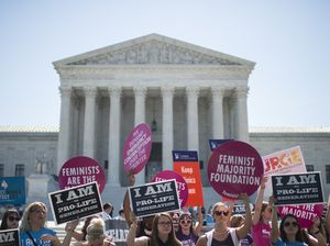 June 27, 2016: Supreme Court Strikes Down Abortion Restrictions In Texas. The Supreme Court has overturned a Texas law requiring clinics that provide abortions to have surgical facilities and doctors to have admitting privileges at a nearby hospital. The law was designed to close clinics. #TX #Antichoice #Prochoice