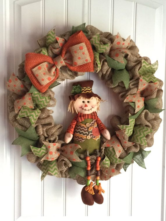 Hey, I found this really awesome Etsy listing at https://www.etsy.com/listing/238127056/fall-burlap-wreath-scarecrow-wreath