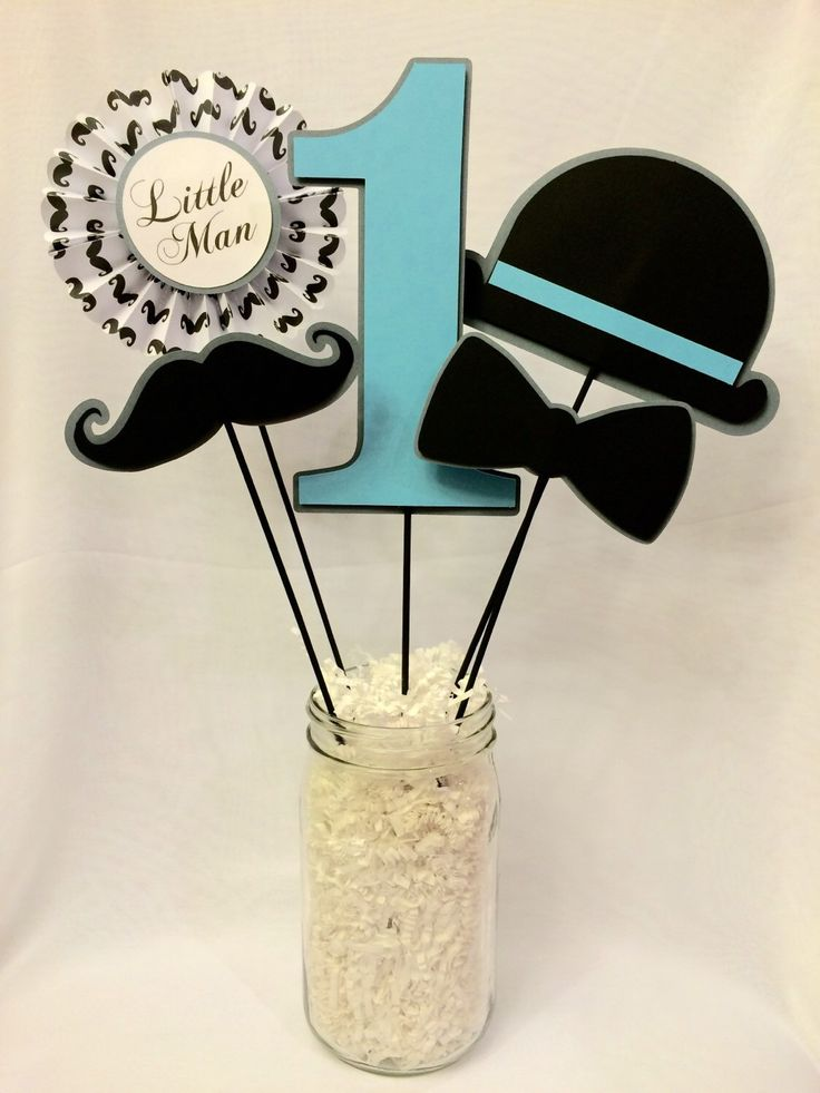 Little Man Centerpiece Picks by CraftySistersPlus1 on Etsy https://www.etsy.com/listing/213210250/little-man-centerpiece-picks