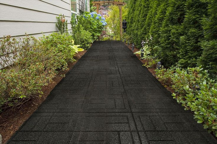 Builddirect Outdoor Interlocking Rubber Pavers Black
