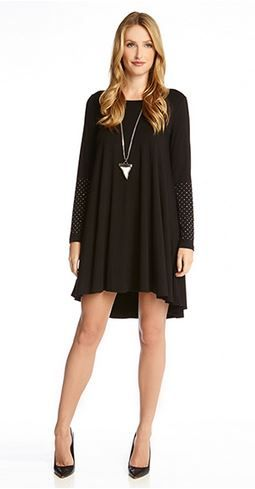 Love Love Love! Want! Want! Want! Embellished Cuff Swing Dress! #LBD #Sparkly #Sleeves #Black #Swing #Dress #Holiday #Party #Fashion