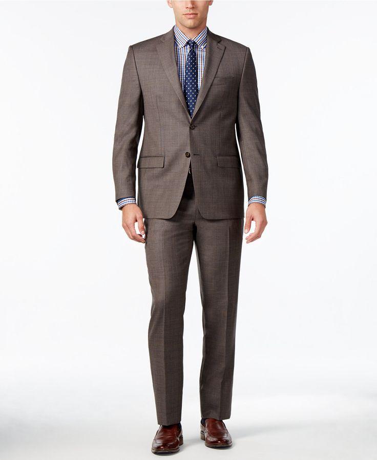 Lauren Ralph Lauren Men's Light Brown Glen Plaid Ultraflex Pure Wool Big and Tall Classic-Fit Suit - Suits & Suit Separates - Men - Macy's $150