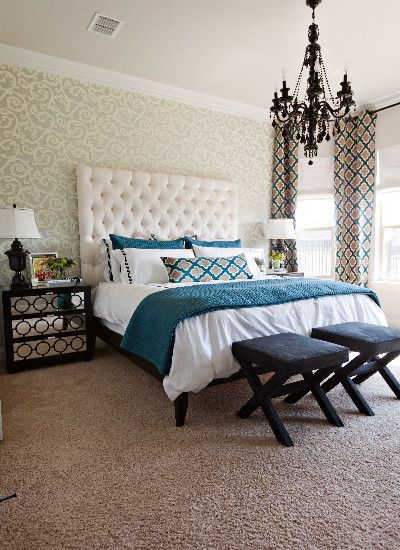 """Bedroom """"white Headboard"""" +bedding Design, Pictures, Remodel, Decor and Ideas - page 10"""