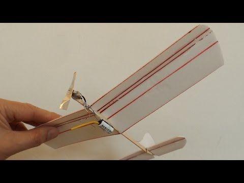 Electric Powered Styrofoam Plate Airplane - YouTube