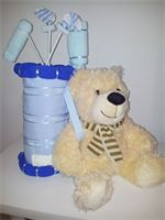 Unique Baby Gifts Nappy Cake- Baby Boy Nappy Golf Club Bag with Teddy