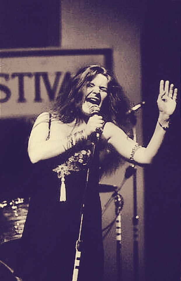 Janis at the Newport Jazz Festival in 1968  Photo by David