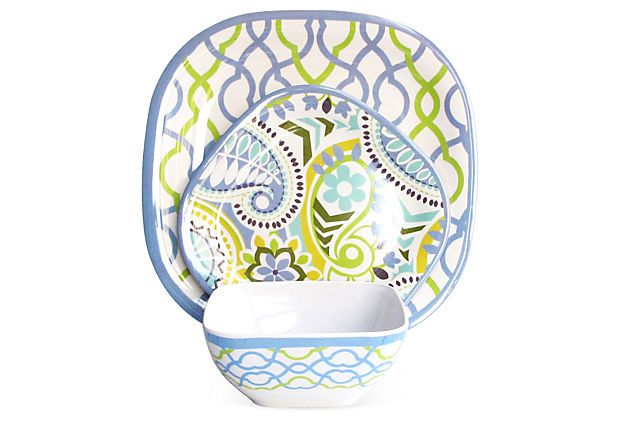 32 best images about funky pretty plates bowls on pinterest melamine dinnerware sets cake - Funky flatware sets ...