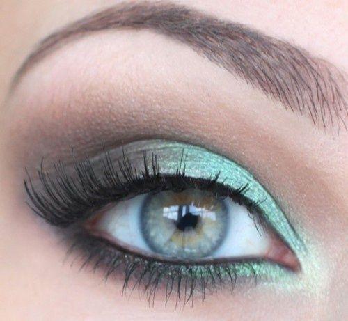 light greenish eye shadow