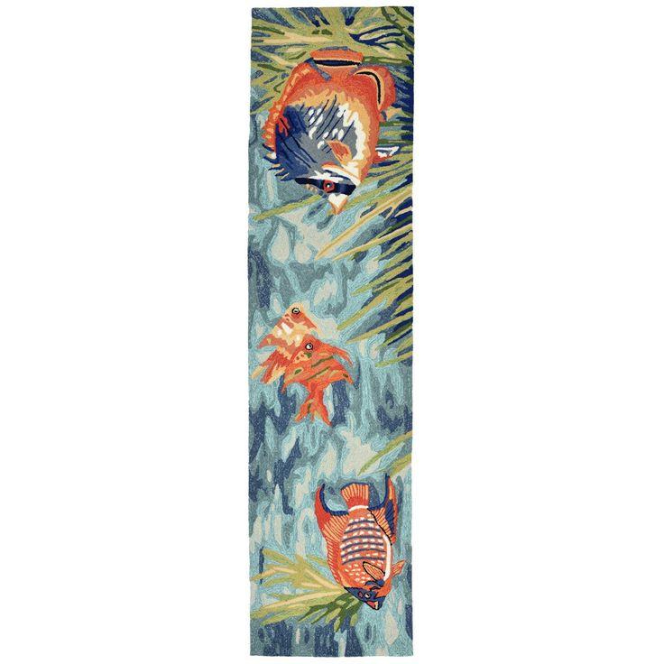 Trans Ocean Liora Manne Ravella Tropical Fish Blue Indoor-Outdoor Rug