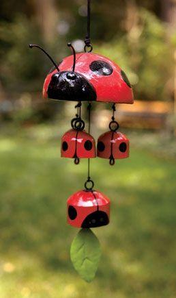 Ladybug wind chime