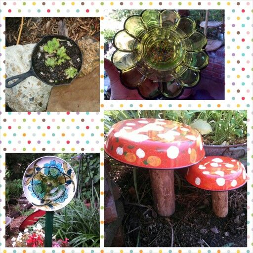 Repurposed kitchen items for garden decor flower plates for Egg tray wall hanging