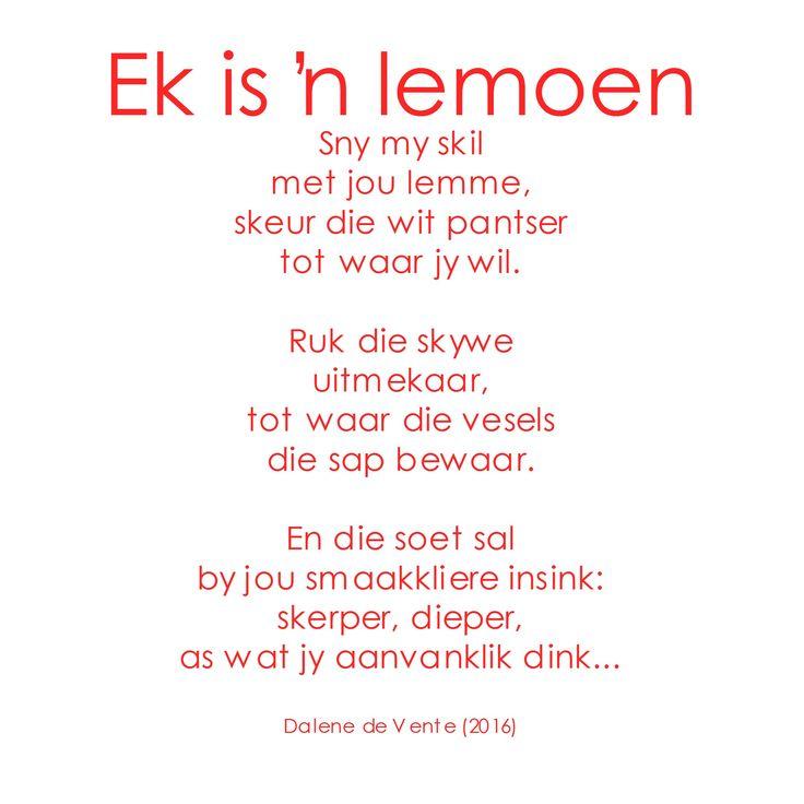 Gedig: Ek is 'n lemoen #Afrikaans #digkuns #gedigte #seerkry #woorde #gesegdes