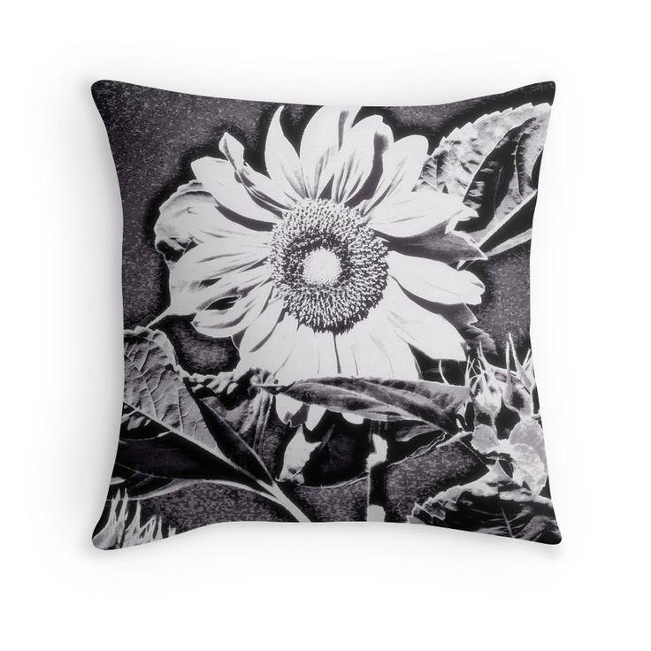 Sunflower At Night Throw pillow