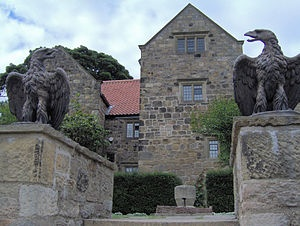 Washington Old Hall, the home of George Washington's family. This is located in Washington, Tyne and Wear, County Durham