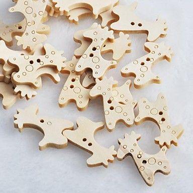 жираф альбом scraft швейные DIY Деревянные кнопки (10 шт) – RUB p. 68,65