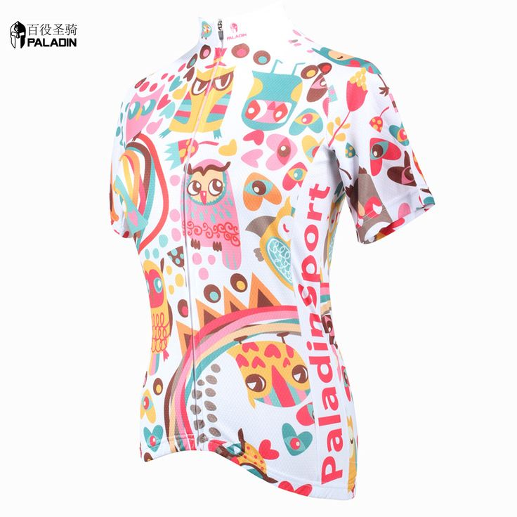 Women cycling jersey short sleeve Sportswear sale Women biking shirt High quality PALADINsports Night owl Multi color //Price: $US $19.99 & FREE Shipping // #sports #sport #active #fit #football #soccer #basketball #ball #gametime #fun #game #games