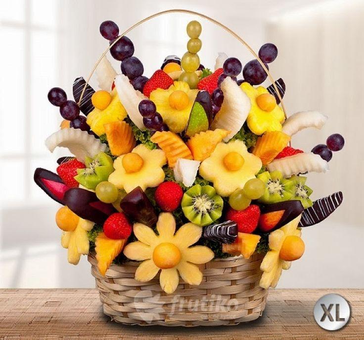 Ovocné kytice Frutiko blog: Oslavte tento Valentýn netradičně a zdravě s jedlý...