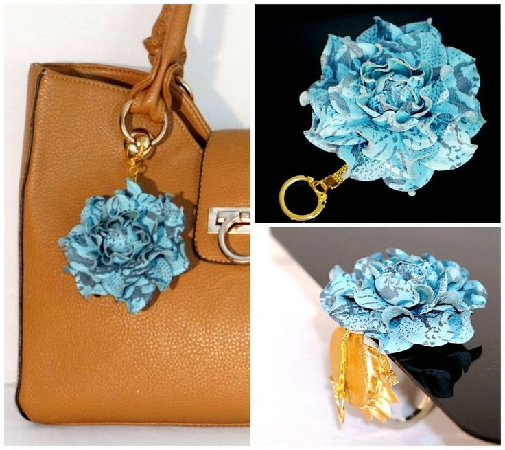 2 in 1: TABLE BAG HANGER HOOK + BAG CHARM | Flower purse pendant, handbag holder…