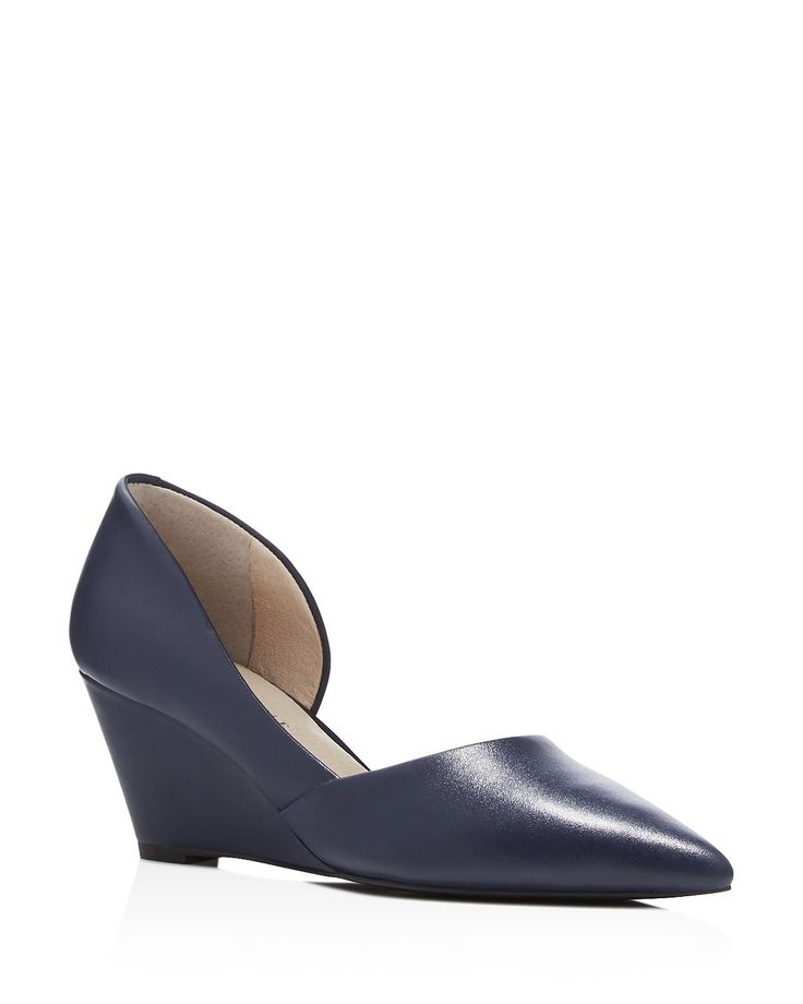 Kenneth Cole Ellis d'Orsay Pointed Toe Wedge Pumps