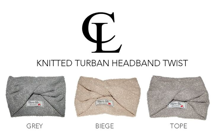 CL Chunky Knitted Turban headbands #CL #ChunckyKnitted #Turbanband