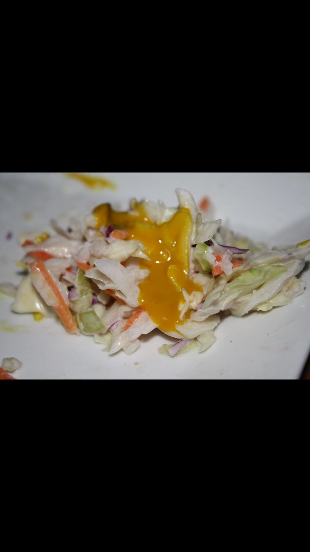 Salad with Lil' Buddy's mustard by Nephews Sauce and Rub Company