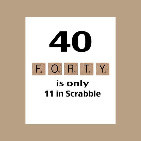 40ste verjaardag 40ste verjaardagskaart door DaizyBlueDesigns