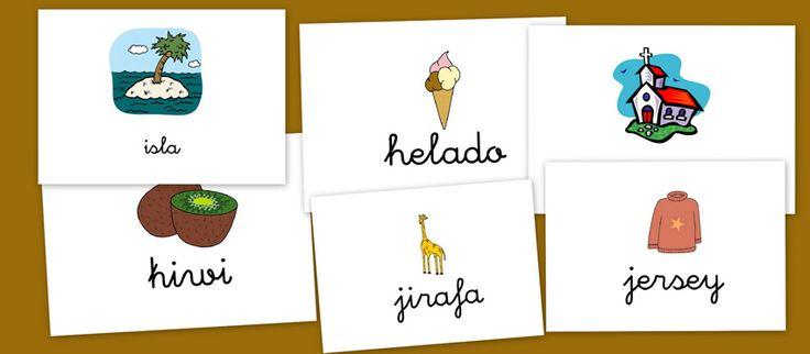 Bits de imágenes para vocabulario.Letras H,I,J,K - Escuela en la nube