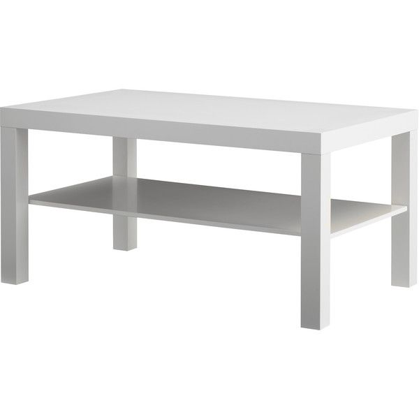 IKEA LACK Coffee table, white (1.155 RUB) via Polyvore featuring home, furniture, tables, accent tables, table, ikea, coffee table, shelf furniture, shelf table и white furniture
