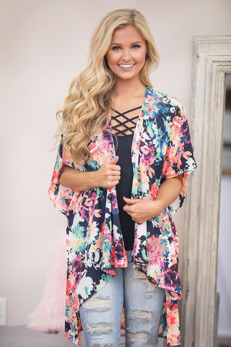 The Pink Lily - Set My Heart On Fire Floral Kimono , $35.00 (https://pinklily.com/set-my-heart-on-fire-floral-kimono/)