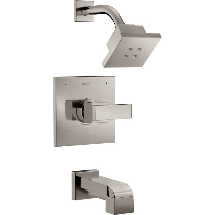 231.53-DELTA BRILLIANCE STAINLESS Ara ® Tub and Shower Trim with Lever Handle and Monitor