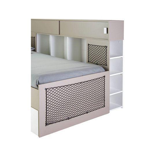 lits lit 90x200 cm et environnement texto blanc argile - Hausgemachte Etagenbetten Mit Rutsche