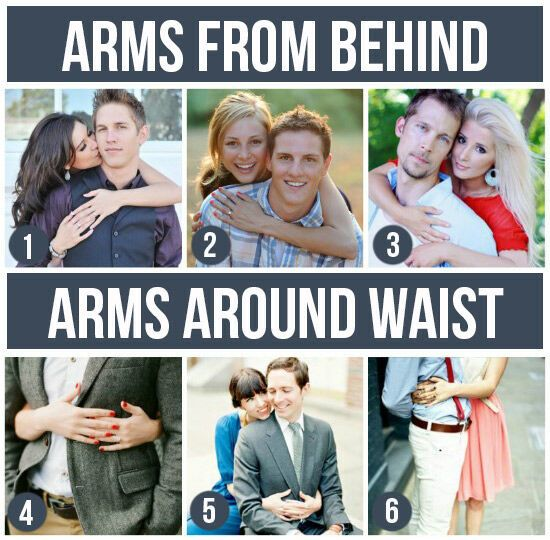 Pose Ideas for Couples: Arms From Behind & Arms Around Waist