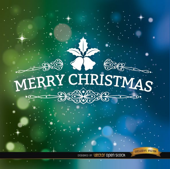 Merry Christmas Space Background Free Vector