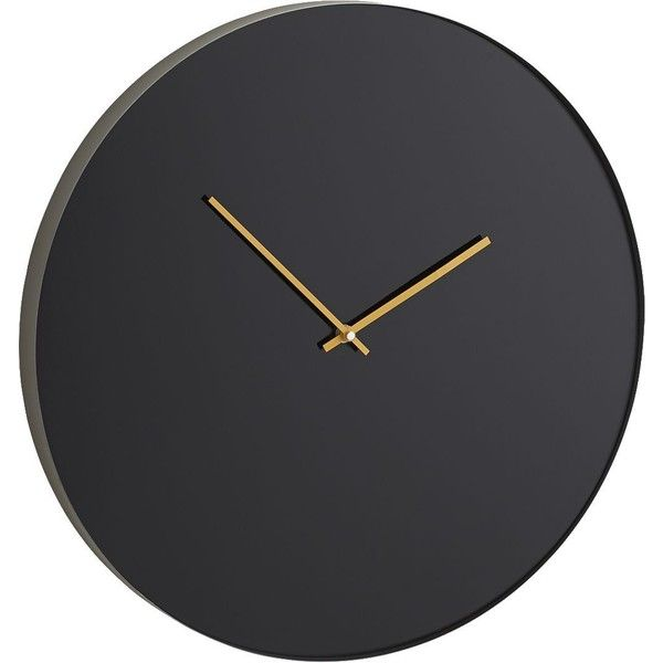 Crate & Barrel Tick-Chalk Clock found on Polyvore