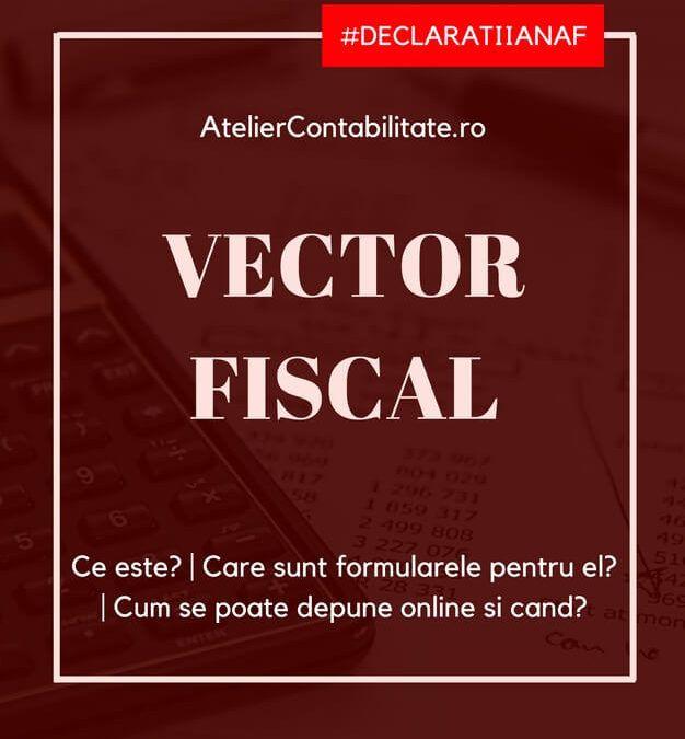 Vector fiscal – ce este, care sunt formularele, cum și când se poate depune online