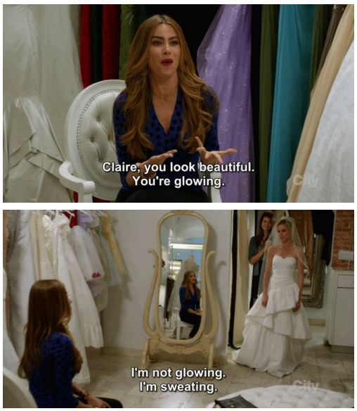"""Modern Family Season 5 Episode 17: Other People's Children. """"I'm not glowing. I'm sweating."""""""