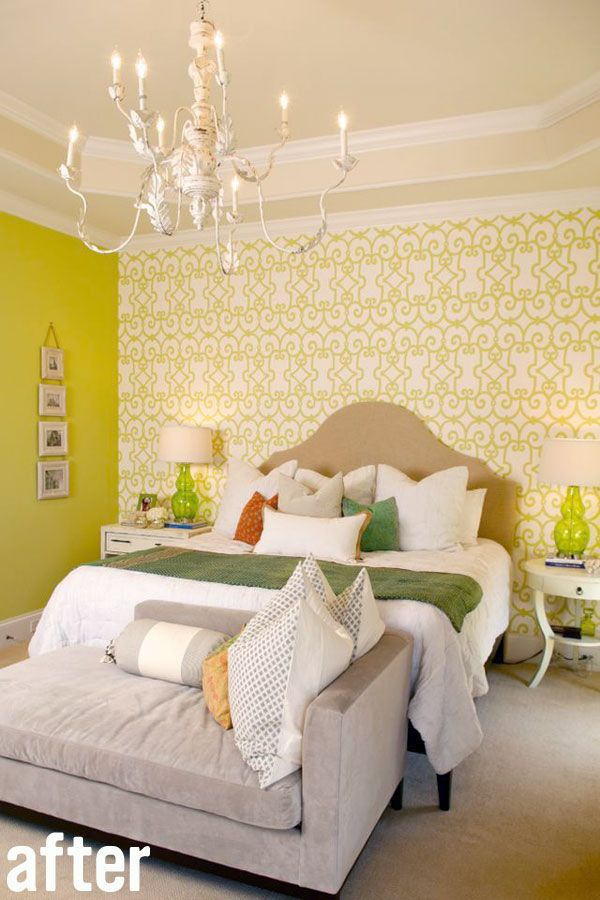west elm bedroom color amp pattern chartreuse white bedroom with 13805
