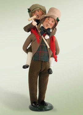 """Bob Cratchit & Tiny Tim"" cast members of A Christmas Carol."