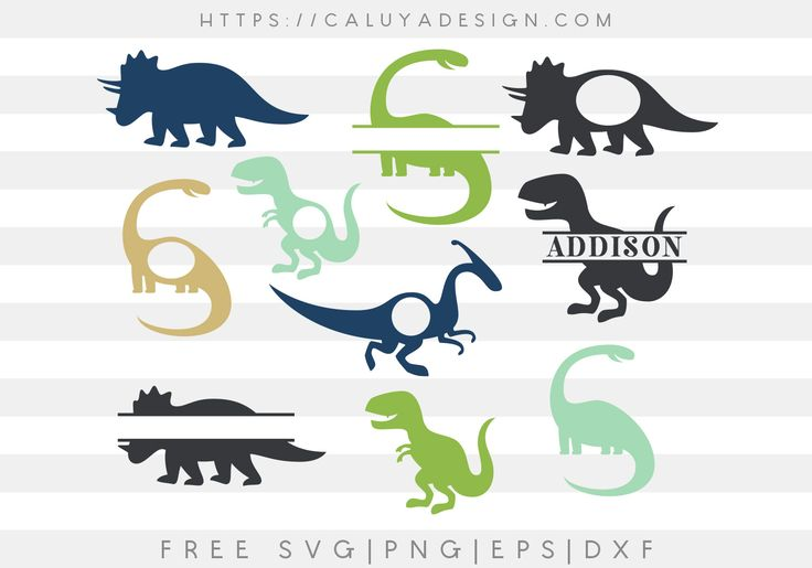 Download Free Dinosaur Monogram SVG, PNG, EPS & DXF by Caluya ...