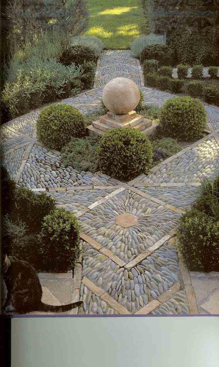 Simple Mosaik Weg mit geometrischem Muster