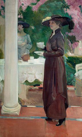 Joaquín Sorolla y Bastida - Tea in the Garden, 1918