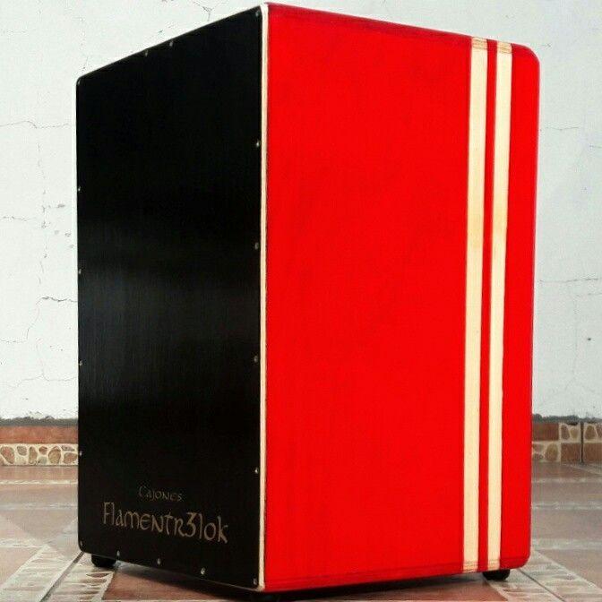 Cajón peruano color!!! Exclusivo de Cajones Flamentr3lok.  Hecho en Chile