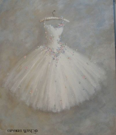 custom order for Mara Ballet Tutu Painting by 4WitsEnd on Etsy
