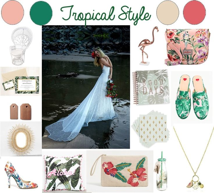 Inspiration pour un mariage tropical à découvrir sur el blog