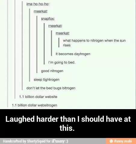 silly science joke - Periodic Table Jokes Tumblr