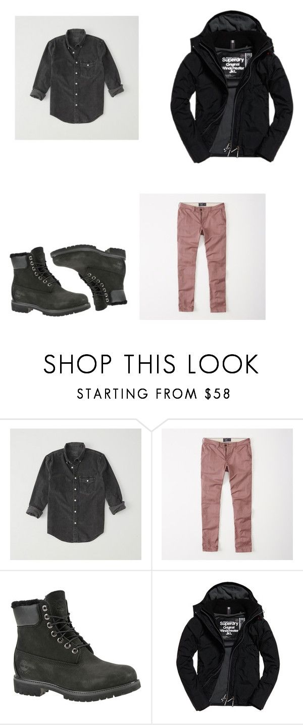 """Untitled #171"" by bnicedagreat ❤ liked on Polyvore featuring Abercrombie & Fitch, Timberland, Superdry, men's fashion and menswear"