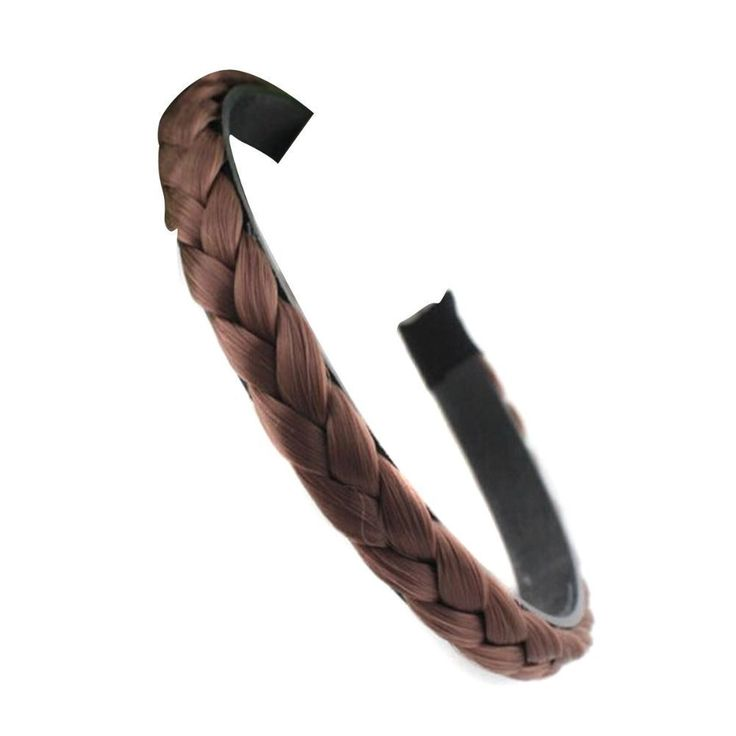 MERSUII Synthetic Hair Headband Wig Braid Plaited Braid Hair Piece Hair Band for Light Brown -- Click image to review more details.