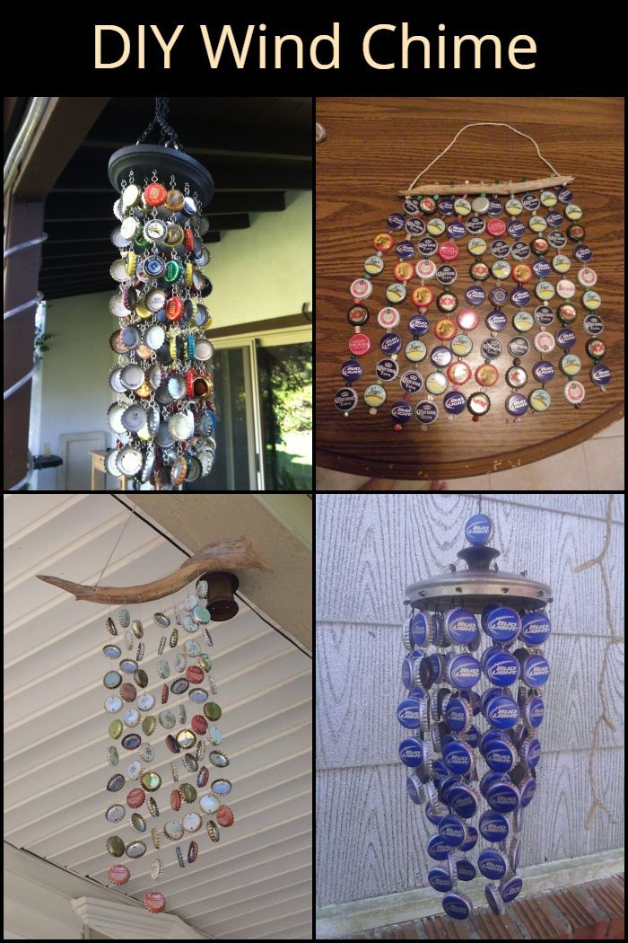 Start Collecting Bottle Caps And Make Your Own Wind Chime Cool