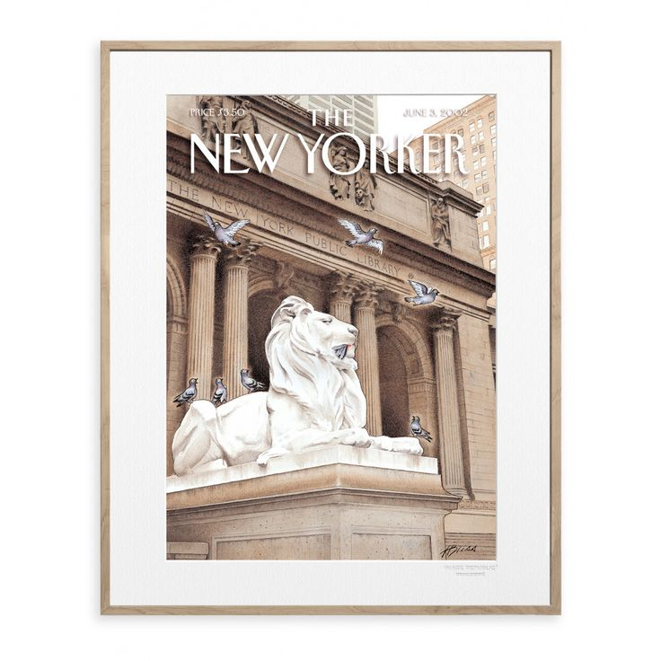 The New Yorker 64 Lions Cover by Bliss